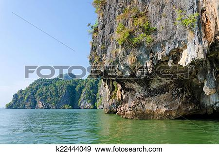 Stock Photograph of James Bond Island in Phang Nga, Thailand.