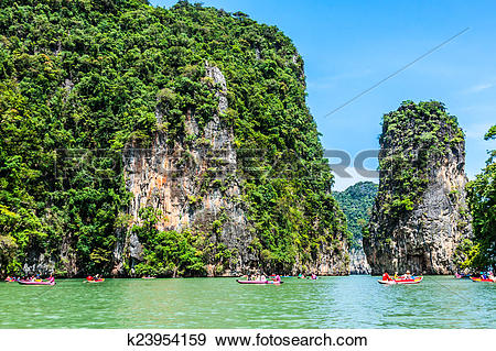 Stock Photograph of Island Phang Nga, Thailand k23954159.