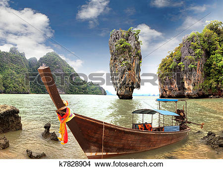 Stock Photo of James Bond Island, Phang Nga, Thailand k7828904.
