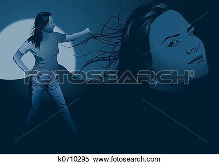 Stock Illustration of Blue girl phantasy k0710295.