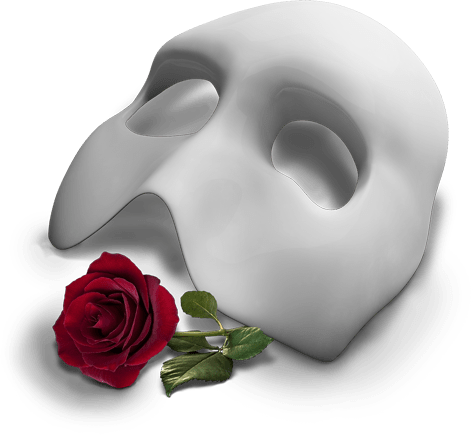 The Phantom Of the Opera Mask Logo transparent PNG.