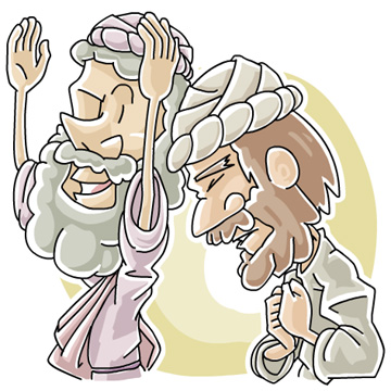 Christian clipArts.net _ A Pharisee and a tax collector.