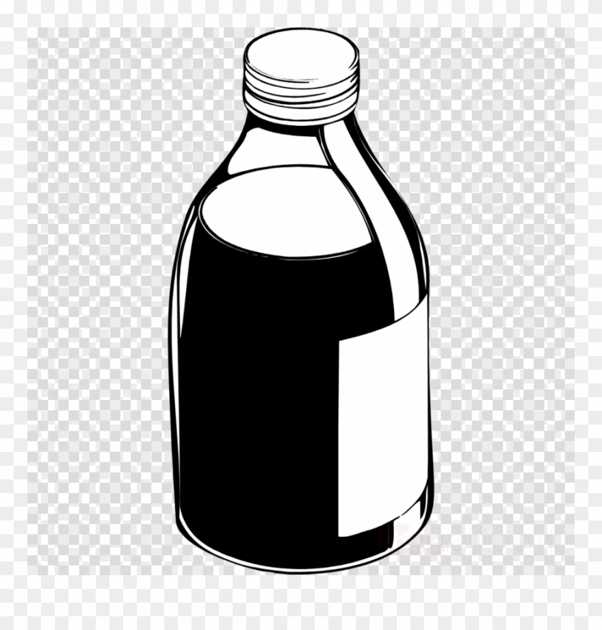 Download Medicine Bottle Black And White Clipart.
