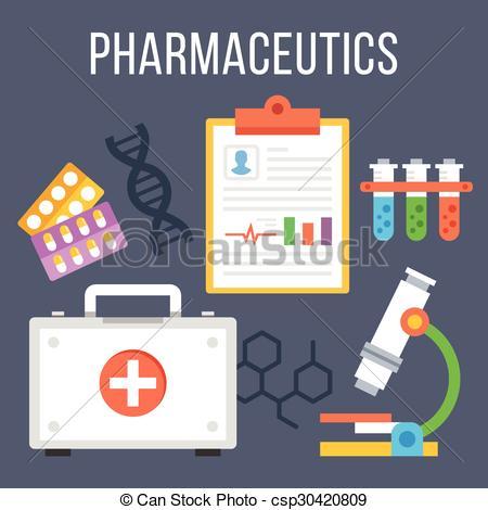 Pharmaceutics Clip Art Vector Graphics. 745 Pharmaceutics EPS.