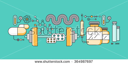 Pharma Manufacturing Clip Art.