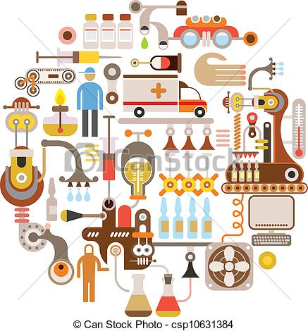 Pharmaceutics Clip Art Vector Graphics. 798 Pharmaceutics EPS.