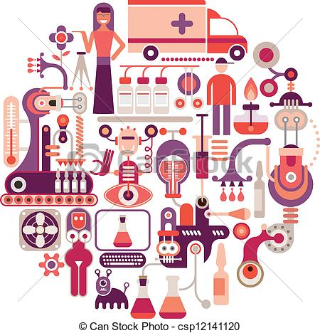 Pharmaceutics Clip Art Vector Graphics. 745 Pharmaceutics EPS.