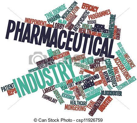 Stock Illustrations of Pharmaceutical industry.