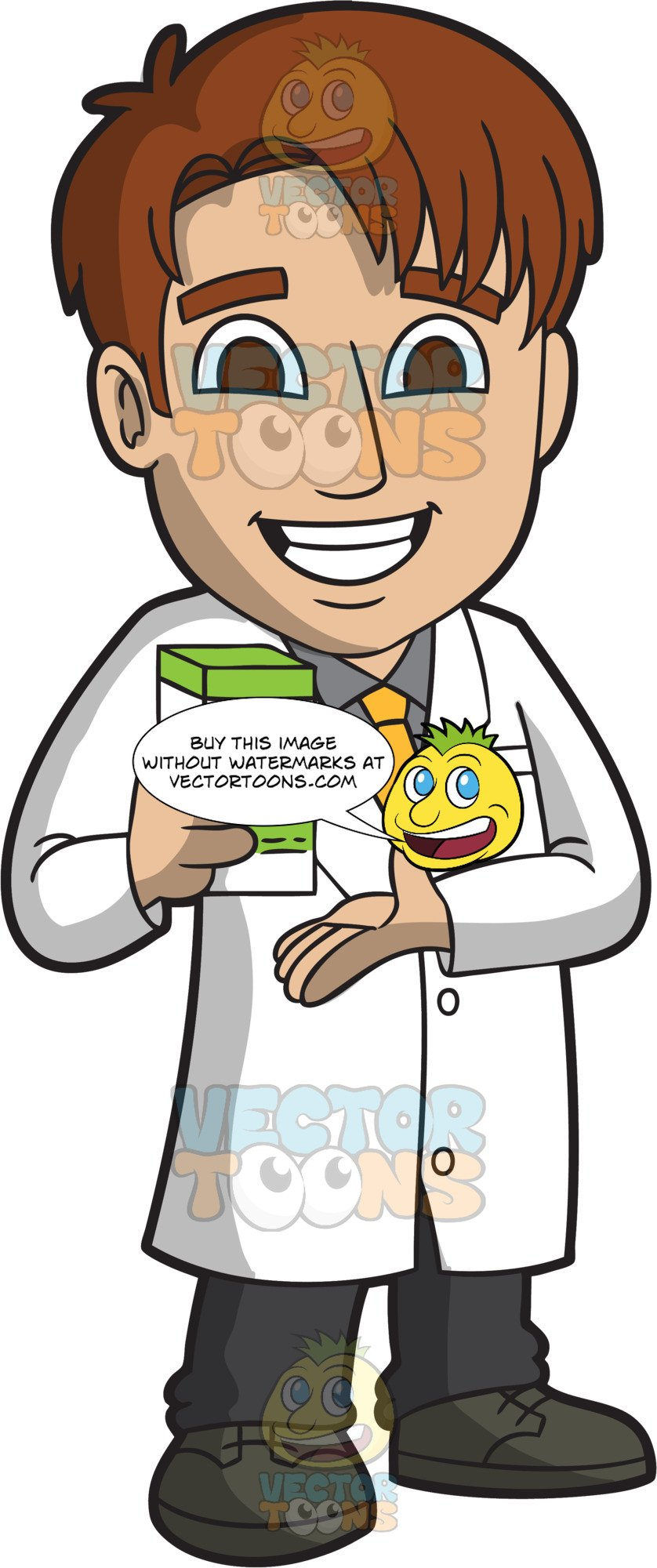 A Happy Male Pharmacist.