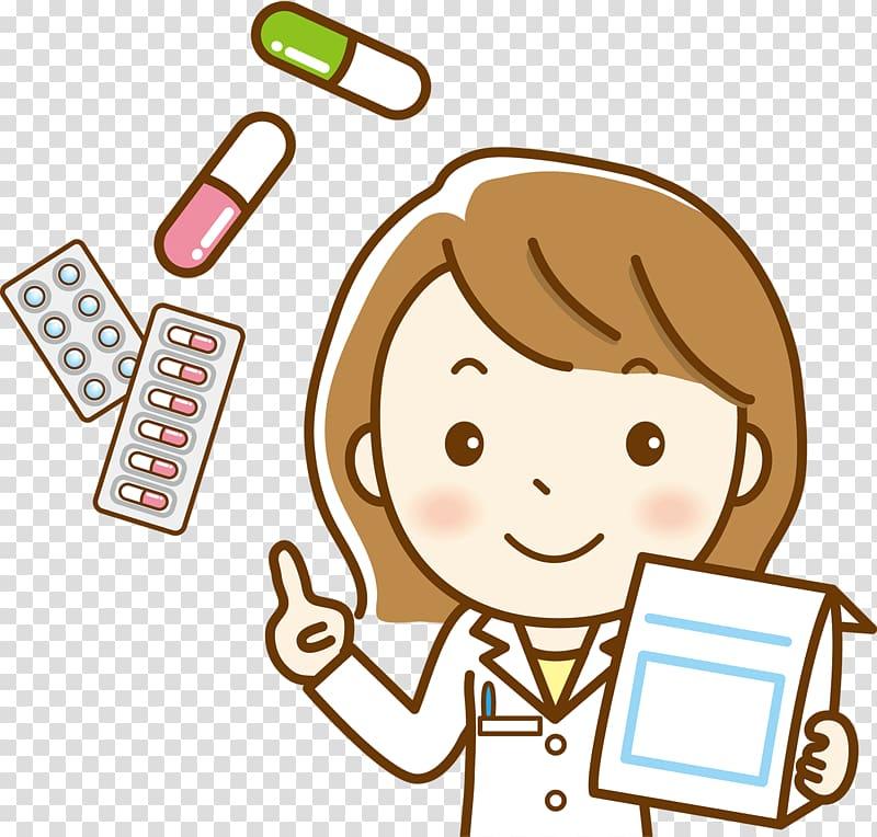 Doctor illustration, 調剤 Pharmacist Physician Pharmacy.