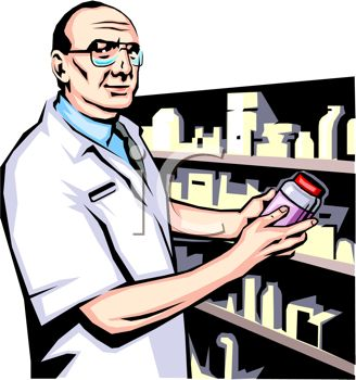 Cartoon Pharmacy Clipart.