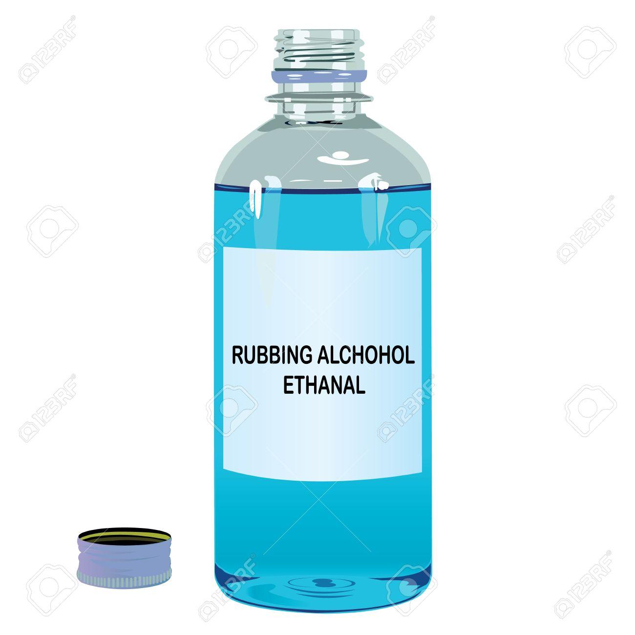 Rubbing Alcohol Clipart.