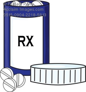 Pharmacy Bottle Clipart.