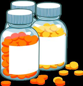 Clipart pill bottle.