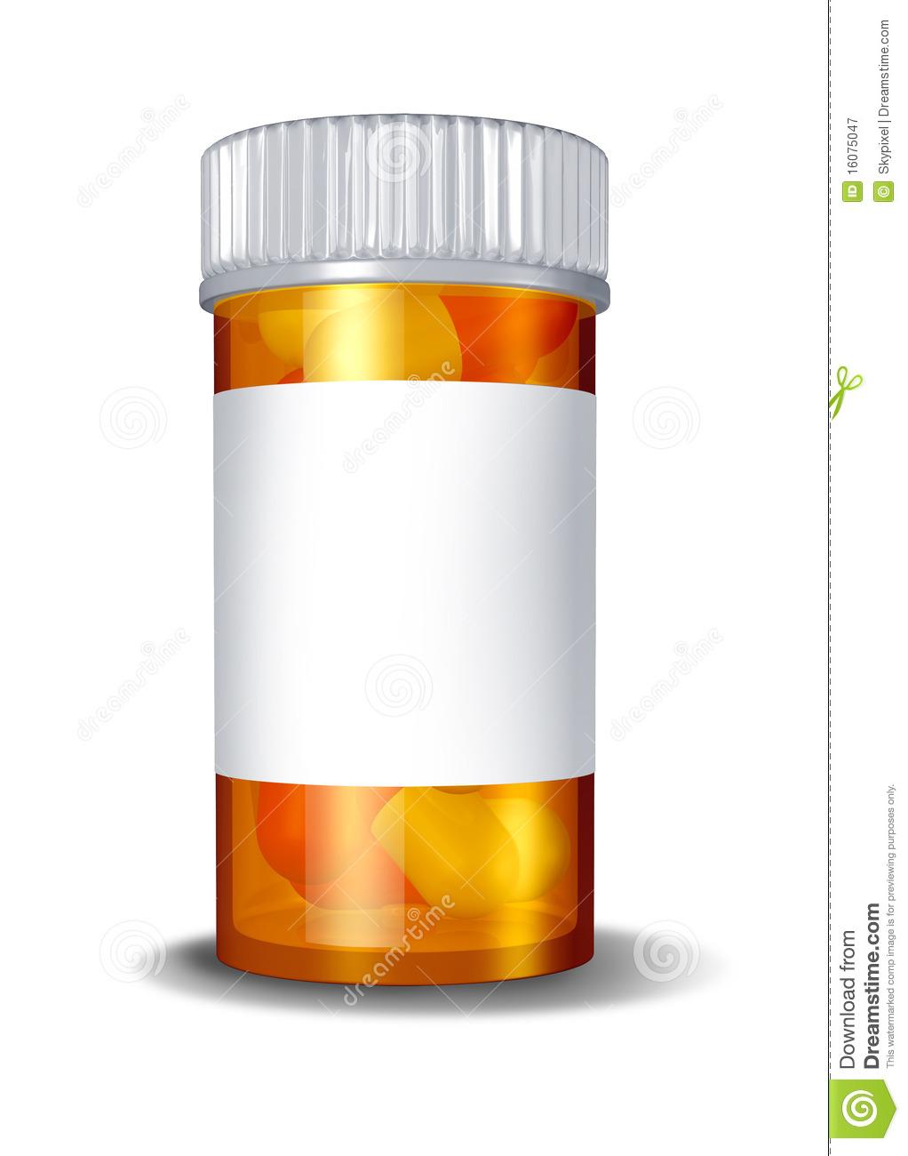 Pharmacy Bottle Clipart.