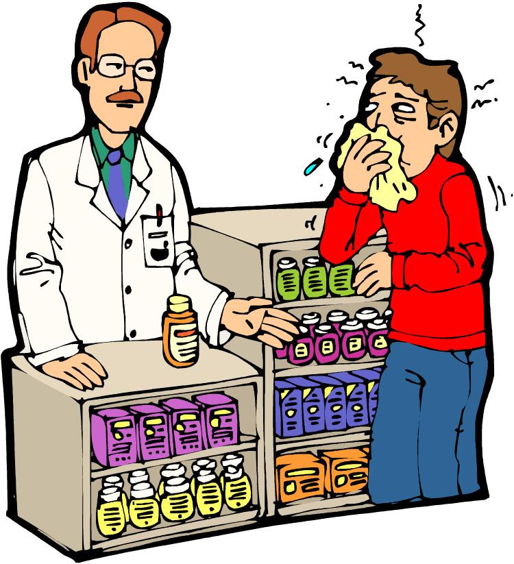 Female pharmacist clipart.