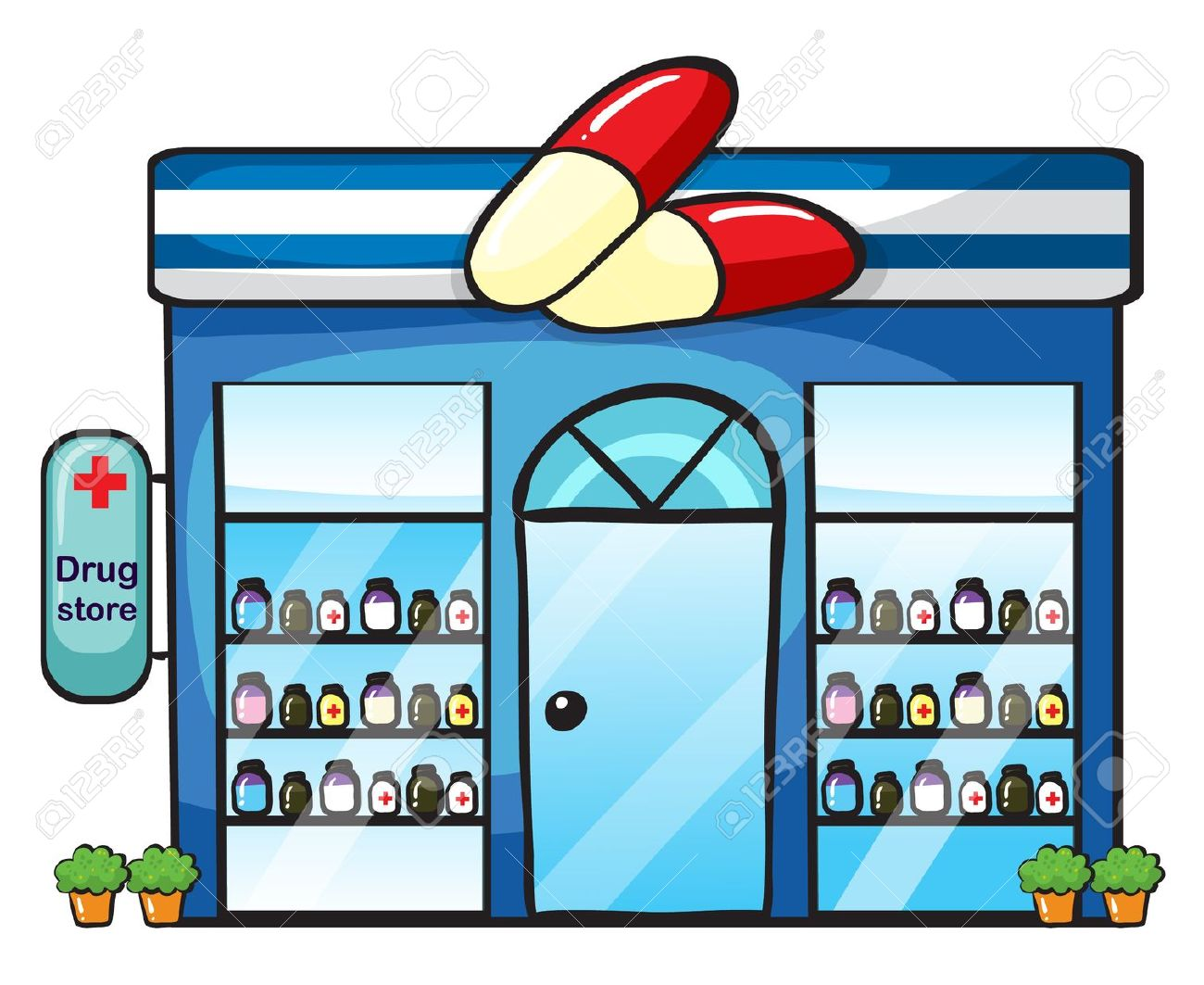 Pharmacy Store Clipart.