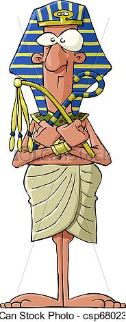 Vectors Illustration of Pharaoh on a white background, vector.