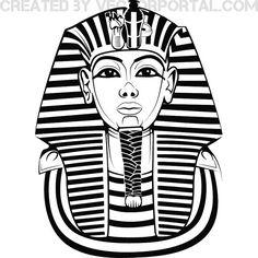 Egyptian head clipart.