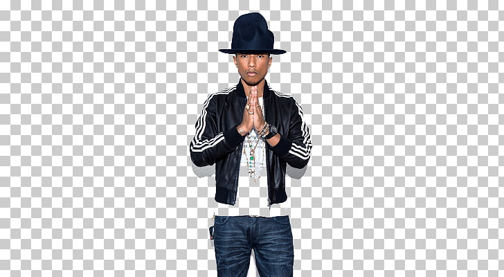 Pharrell Williams Hat, man wearing black and white leather.