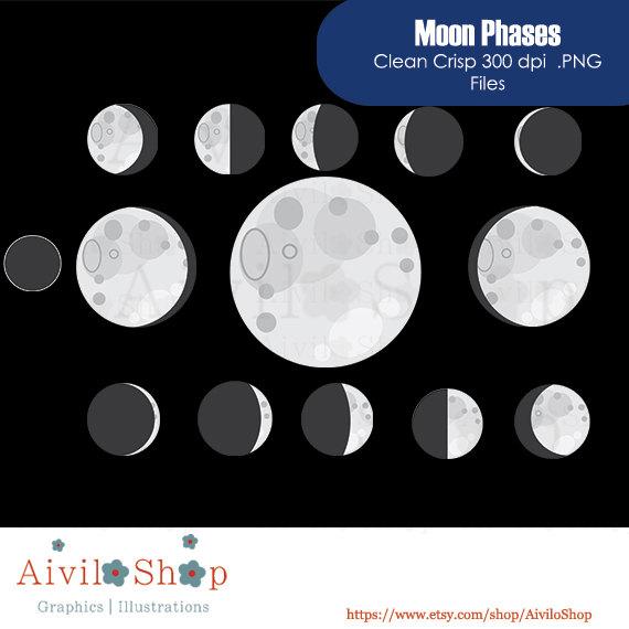 New moon clipart.