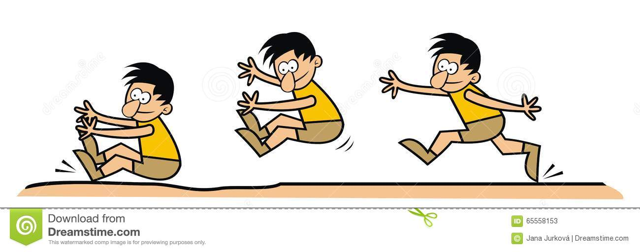 Long Jump Stock Vector.