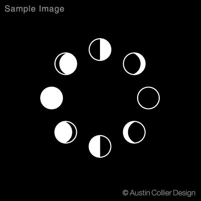 clipart moon phases.