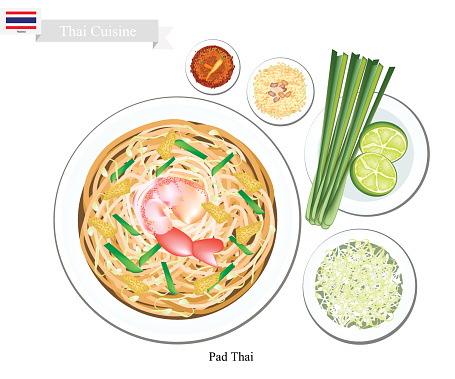 Pad Thai Clip Art, Vector Images & Illustrations.