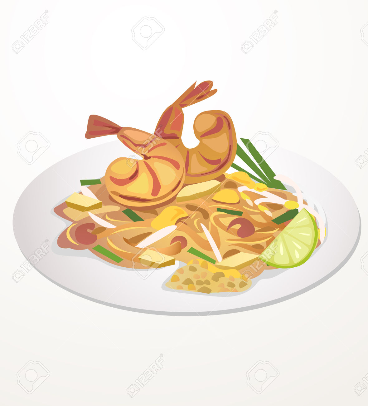 Thai food clipart free.
