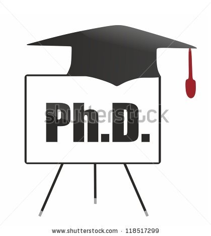 Phd degree clipart.