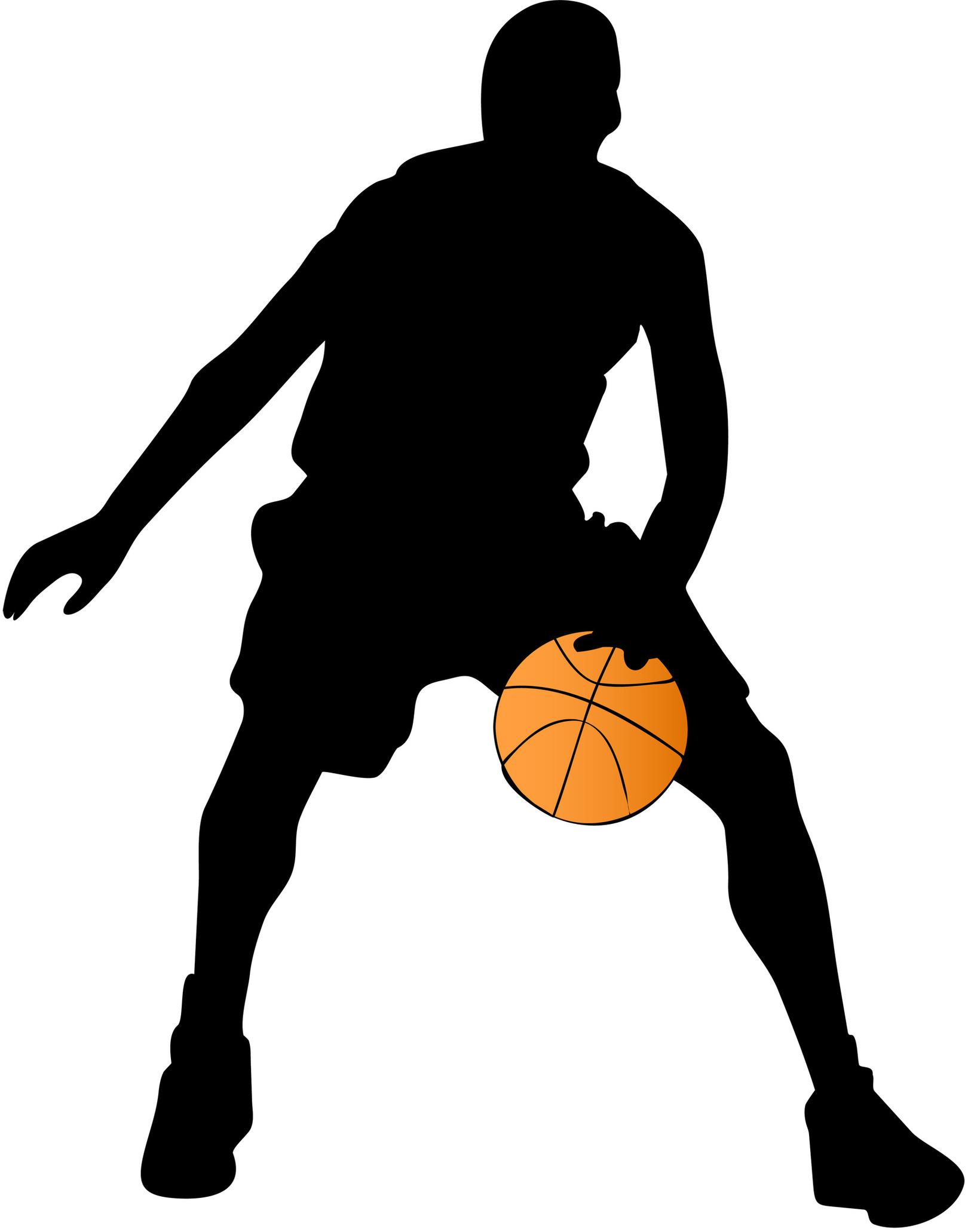 Basketball shadow clipart.