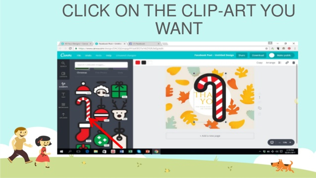 How to use canva to create quick facebook post.