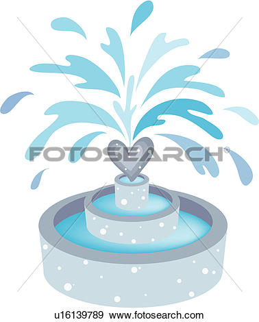 Clip Art of natural phenomenon, nature, water, waterdrop, fountain.