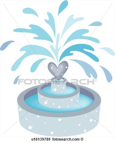 Clip Art Water Fountani Clipart.