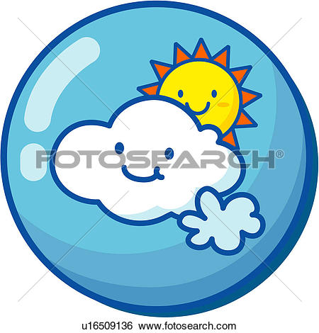 Clip Art of sunshine, sun, natural phenomenon, logo, weather.