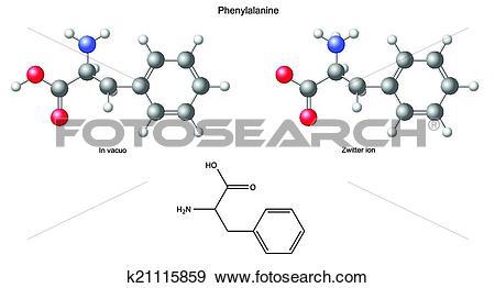 Clip Art of Phenylalanine Phe k21115859.
