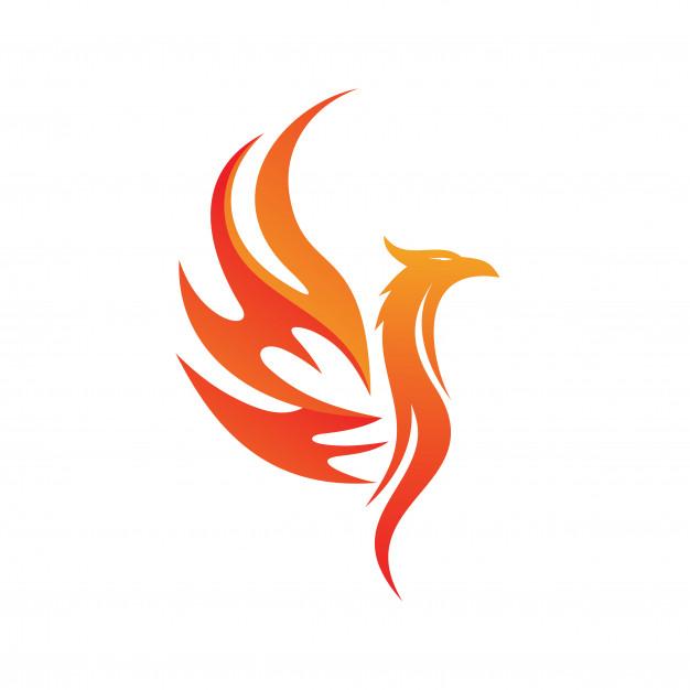 Phoenix logo vector Vector.