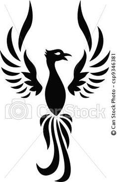 Custom Logo Design Premade Logo Gold Phoenix Bird Small Business.