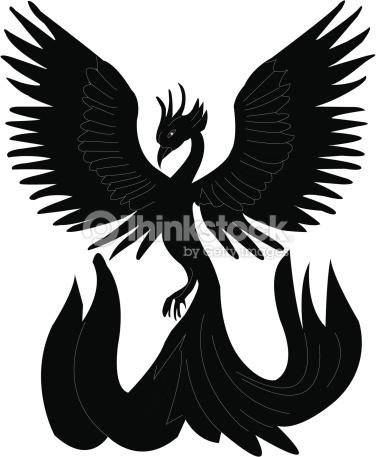 Phoenix Silhouette Vector Art.