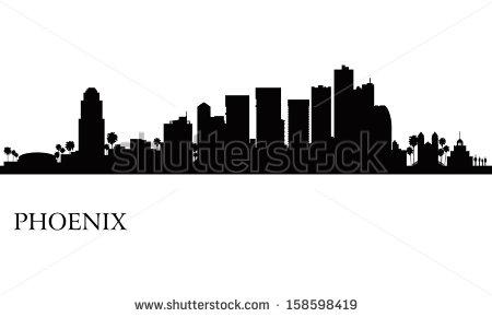 Phoenix Skyline Stock Images, Royalty.