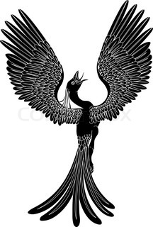 Phoenix bird silhouette.