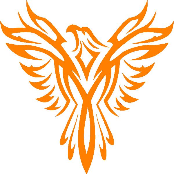 White Phoenix Clip Art at Clker.com.