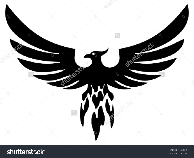 Phoenix Bird Vector Stock Vector 35488996.