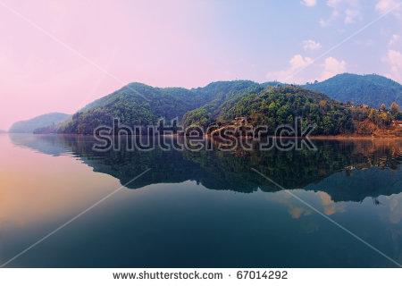 Fewa Nepal Pokhara Lake Stock Photos, Royalty.