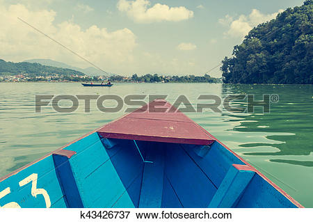 Picture of Boat ride across Lake Phewa. k43426737.