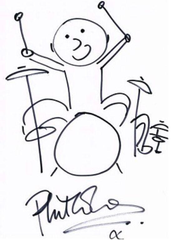 Phil Collins sketch. Always loved this! #drummers.