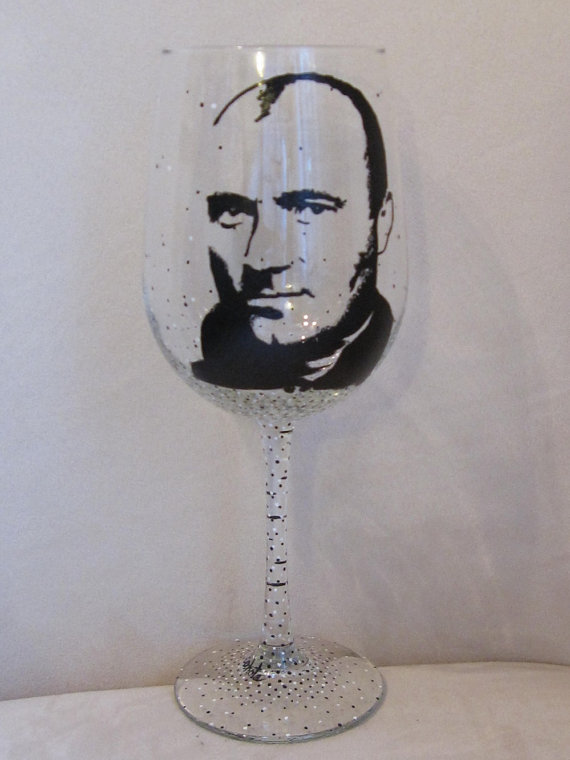 Hand Painted Wine Glass PHIL COLLINS Singer by LoveGoodThings.