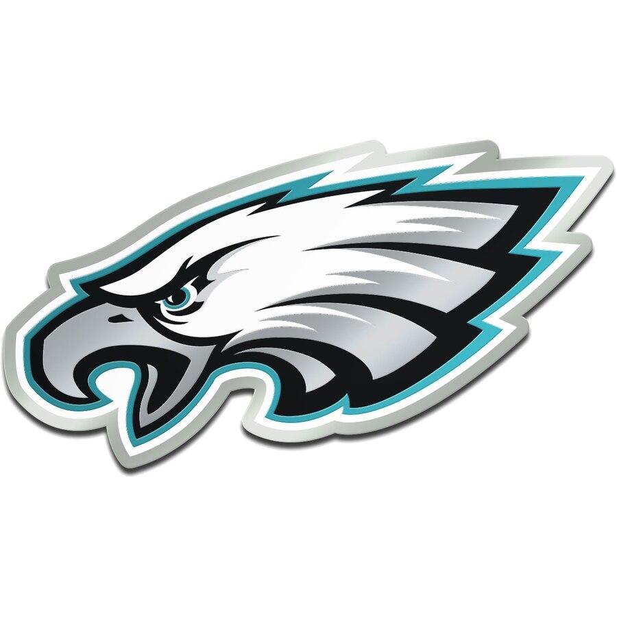 Philadelphia Eagles Metallic Freeform Logo Auto Emblem.