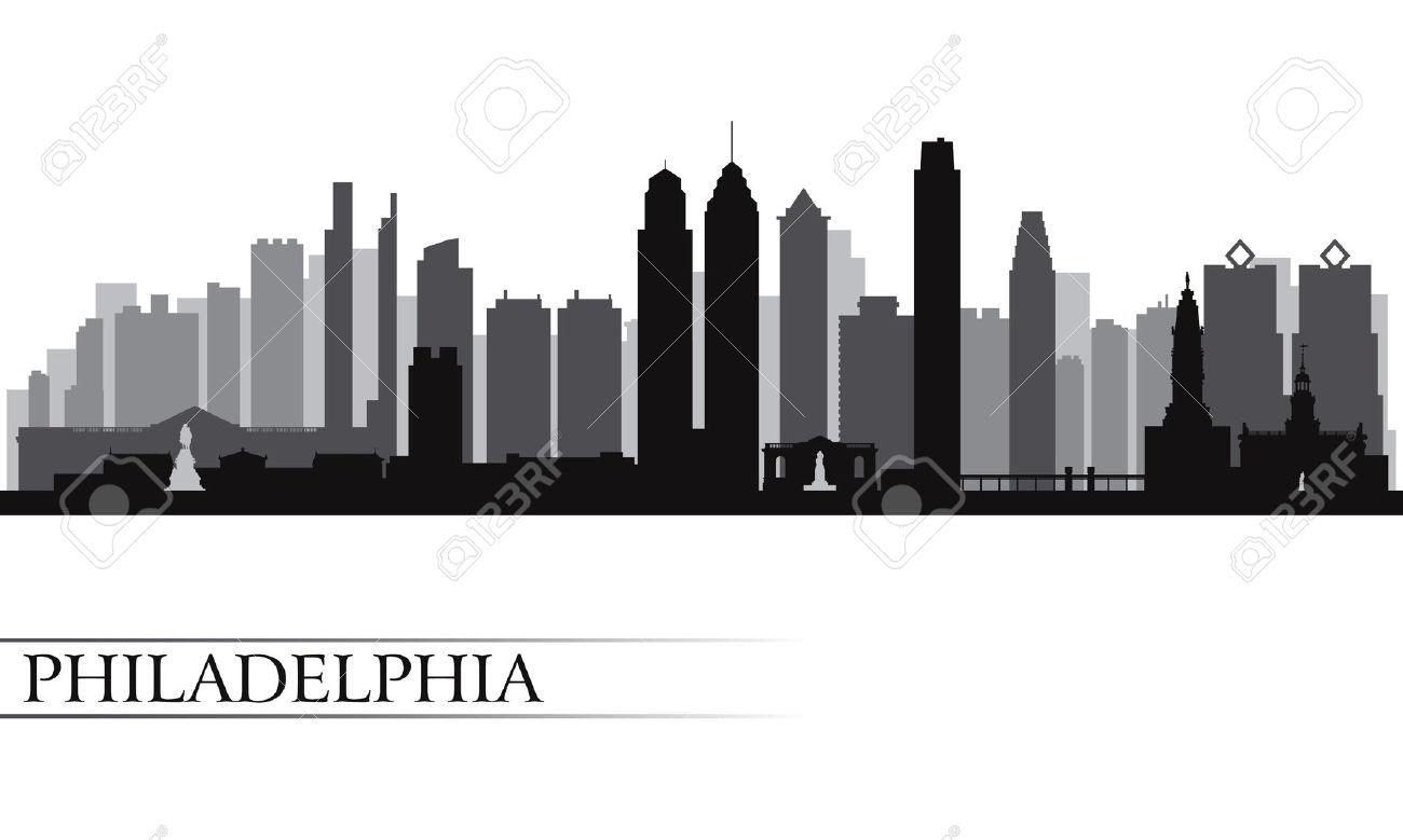 Philadelphia skyline clipart.