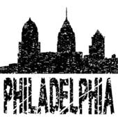 Clipart of Grunge Philadelphia skyline with text k7140381.